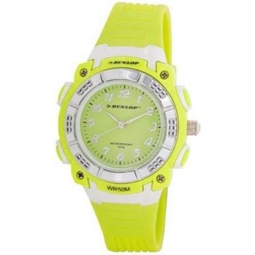 Dunlop Bloom Woman´s DUN244L05 LCD Dial Analog & Digital Watch Yellow Strap