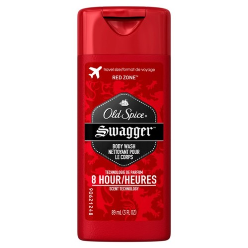 Old Spice Red Zone Swagger Body Wash, Lasts 8 Hours, Scent of Confidence, 3
