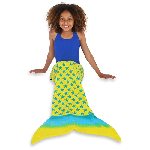 Toweltails 100% Cotton Mermaid Tail Shaped towel