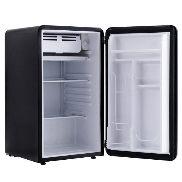 Costway 3.2 Cu Ft Retro Compact Refrigerator w/ Freezer Interior Shelves Ha