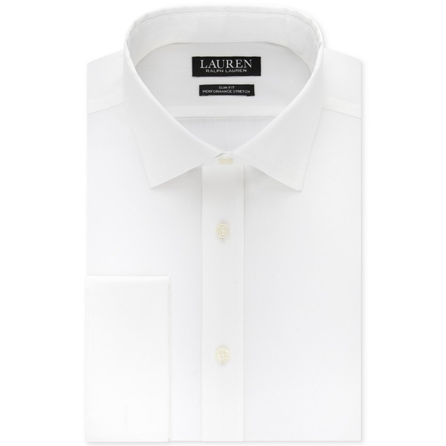 Ralph Lauren Ultraflex Stretch French Cuff Dress Shirt 16.5x34-35