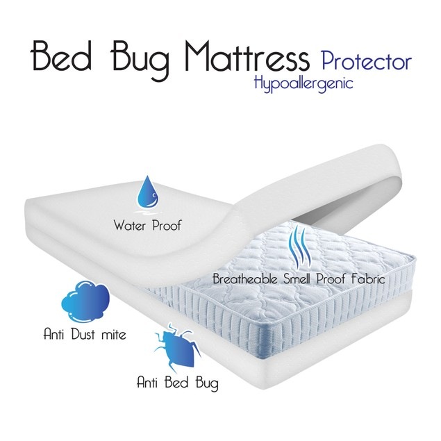 Remedy Bed Bug Dust Mite Cotton Mattress Protector- King