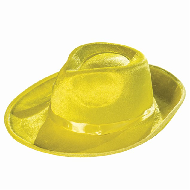 Yellow Fedora Hat Deluxe The Mask Dick Tracy Zoot Suit Gangster 20's Movie