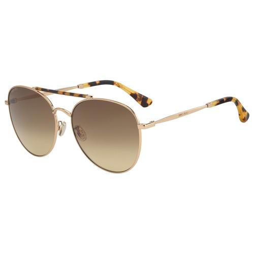 Jimmy Choo Women Sunglasses ABBIEGS 06J Gold Havana Aviator Gradient 61 17 145