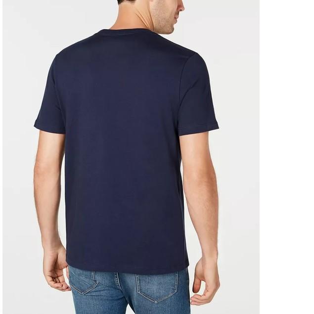 Michael Kors Men's Logo Aviator Graphic T-Shirt Blue Size Small