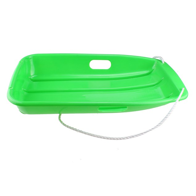 Winter durable Plastic snow Sled in boat shape Snow Sledge Snow board green