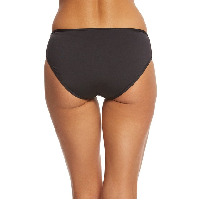Tommy Bahama Women's Mesh Solids High-Waist Bikini Bottom Black SIZE X