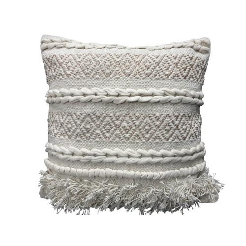 Spura Home Comfortable Tutu Gray Moroccan Style Pillows 18x18
