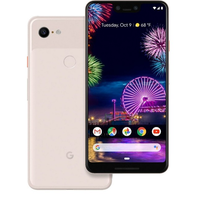 Google Pixel 3 XL, Unlocked, Grade A, Pink, 64 GB, 6.3 in Screen