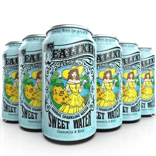 12-PACK Tealixir Herbal Sweet Water, Chamomile & Mint, 12 Oz. Each (144