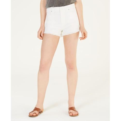 Celebrity Pink Juniors' High-Rise Mom Denim Shorts White Size 3
