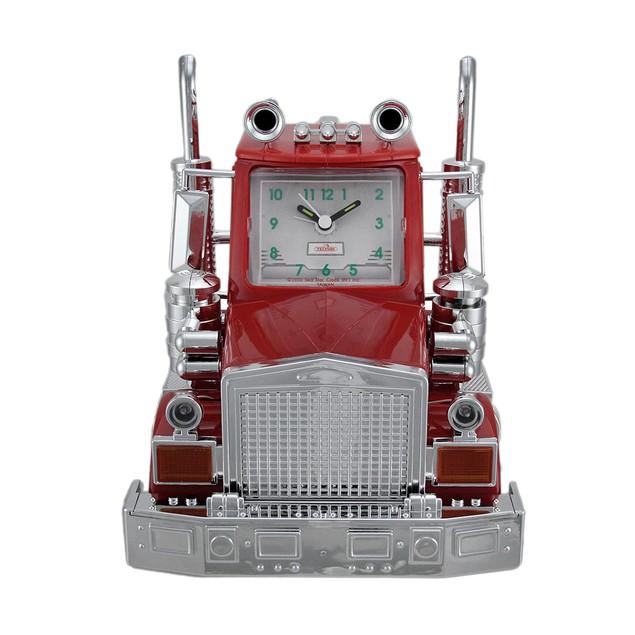 North American Big Rig Red Semi Truck Alarm Clock Alarm Clocks