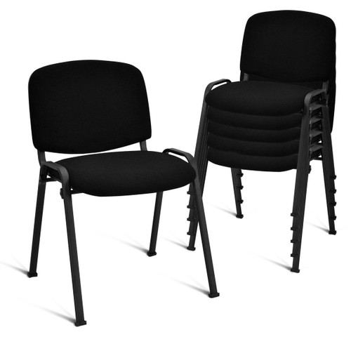 Costway Set of 5 Conference Chair Elegant Design Office Guest Reception