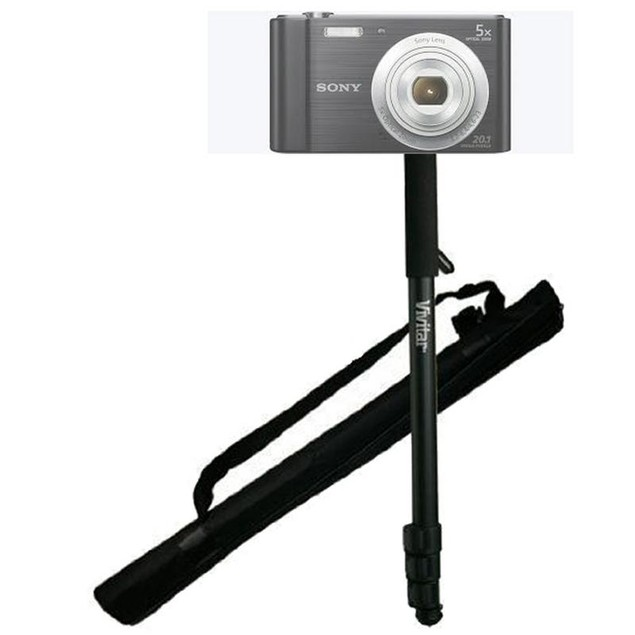 """62"""" Vivitar Monopod With Case for  Sony DSC Models (w800, w810 w30 and more)"""