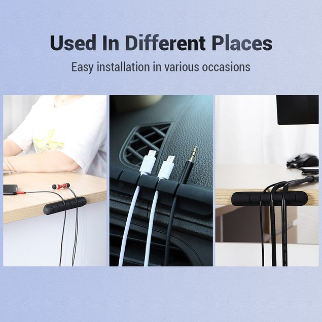 4 Pack Silicone Wire Cable Holder easy to install