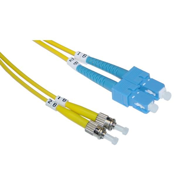 Fiber Optic Cable, SC / ST, Singlemode, Duplex, 9/125, 1 meter (3.3 foot)