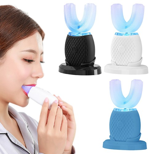 U-Shaped Toothbrush for Adults Portable 360° Ultrasonic Electric Toothbrush