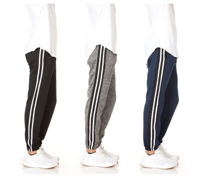 3-Pack Men's Slim-Fit Sweatpants Fleece Joggers Was: $99.99 Now: $31.99.