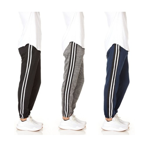 3-Pack Men's Slim-Fit Sweatpants Fleece Joggers