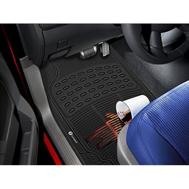 Zone Tech 4-Piece  Heavy Duty Universal Car Floor Rubber Mats