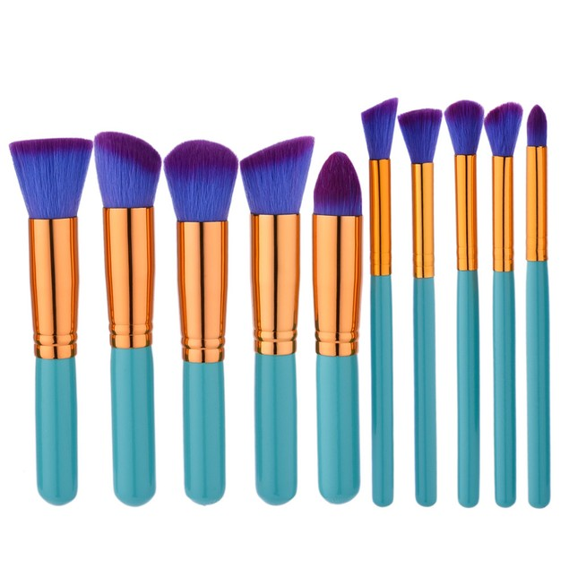 10PCS Make Up Foundation  Blush Cosmetic Concealer Brushes 64