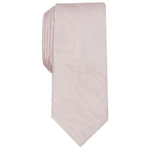 INC International Concepts Men's Skinny Abstract Tie  Pink Size Regular