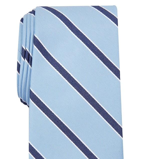 Club Room Men's Stripe Tie Navy Size Regular