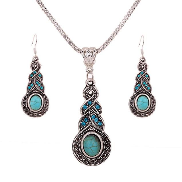 Women's Retro Rhinestone Jewelry Set