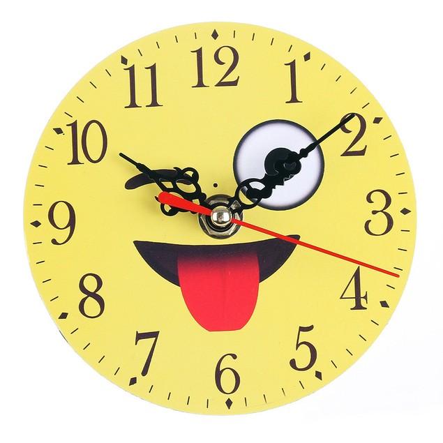 Silent Sweep Emoji Emoticon Bell Creative Digital Clock