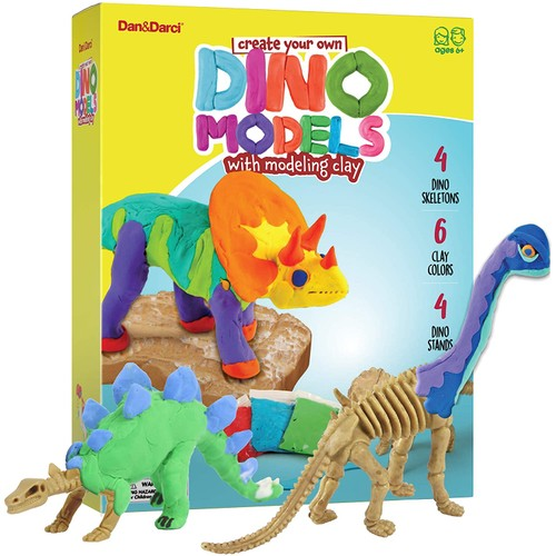 Create Your Own Dino Models with Air Dry Magic Clay