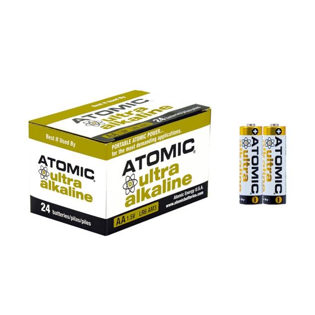 Atomic Ultra Alkaline AA LR6 AM3 1.5V Batteries (24 Batteries)