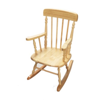 Gift Mark Deluxe Child's Spindle Rocking Chair (Natural)
