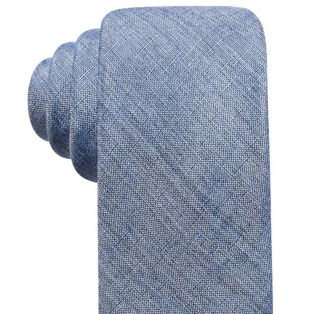 Ryan Seacrest Distinction Men's Seasonal Solid Slim Tie Blue Size Regular