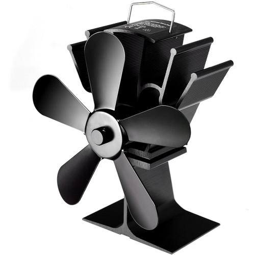Costway Stove Fan 5 Blades Fuel Saving Heat Powered For Wood Burner Firepla