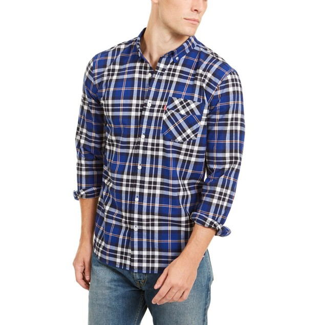 Levi's Men's Plaid Button-down Shirt Sodalite Blue Size Medium