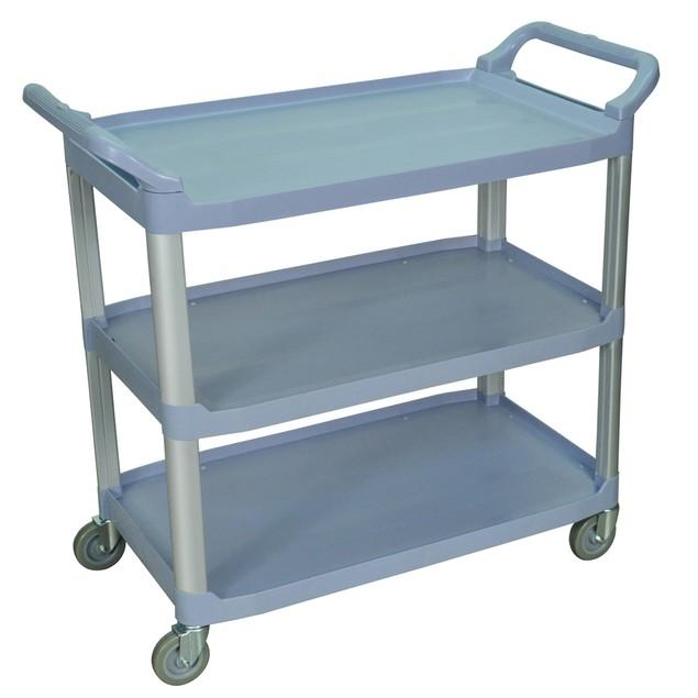 "Luxor 37.5"" Large Three Shelves Serving Utility Cart - Gray"