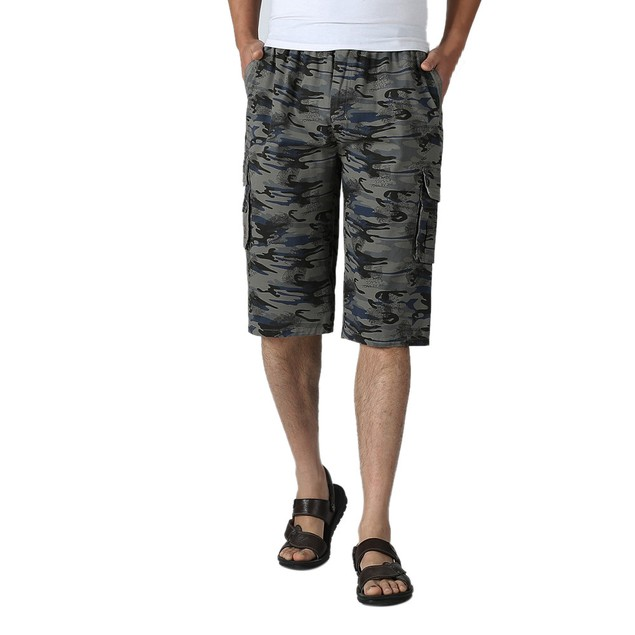 Men Camouflage Shorts Cotton Homme Loose Casual Pants