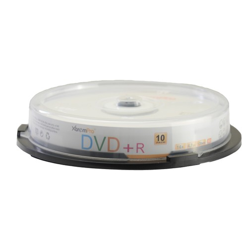 DVD+R 16X 4.7GB 120Min DVD 10 Pack Blank Discs in Spindle