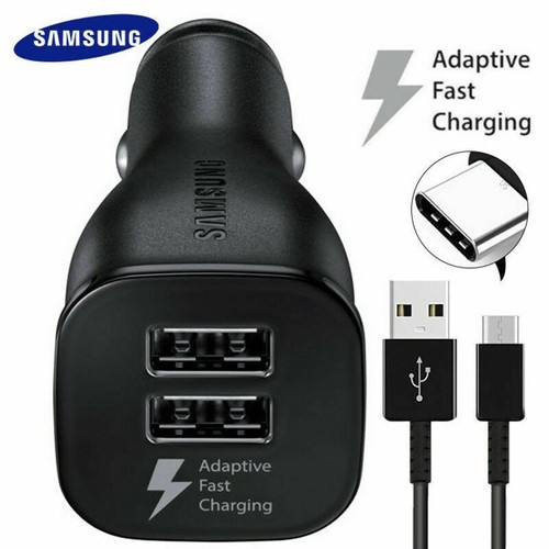 OEM Samsung Fast Charge Dual-Port Car Charger With Fast Charge Technology!