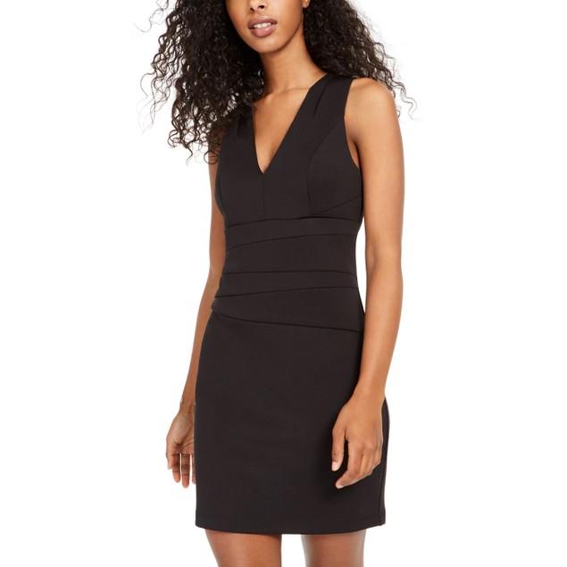 Teeze Me Junior's Paneled Bodycon Dress Black Size 7