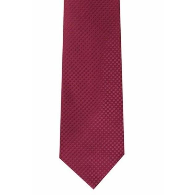 Perry Ellis Men's Victory Solid Tie Wine Size Regular