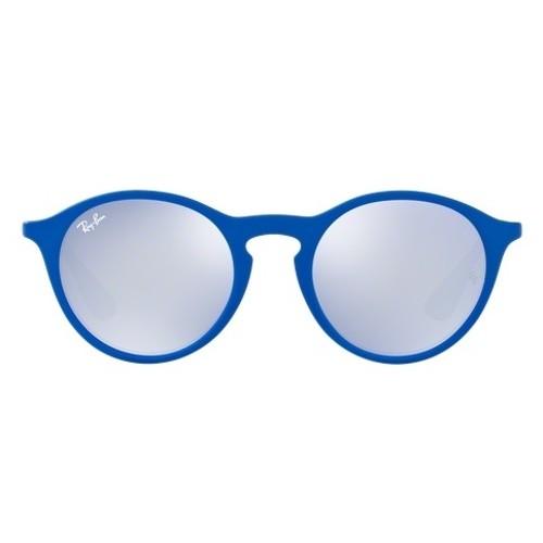 Ray-Ban Blue Gunmetal Grey Lens Sunglasses RB4243-62631U-49