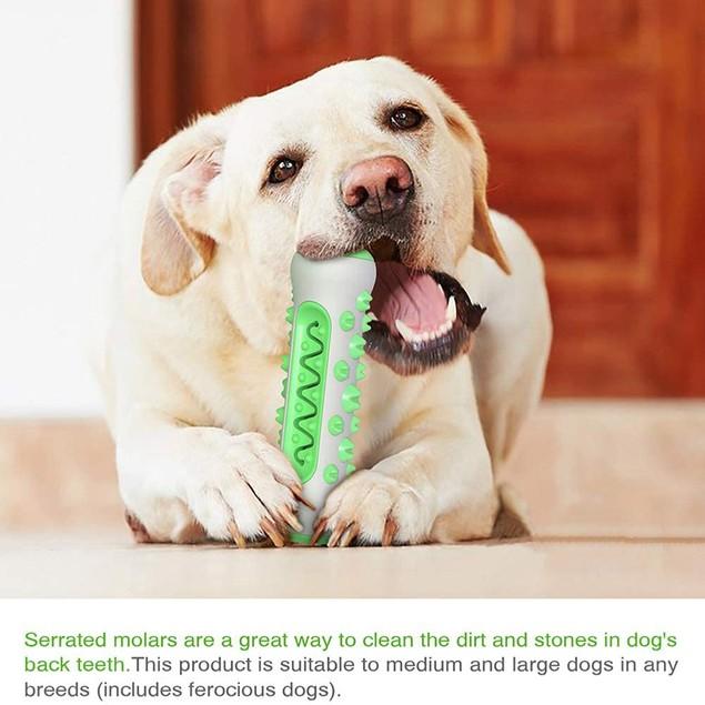 Pet Dog Bone Shape Molar Teeth Cleaner Brushing Stick Interactive Chew Toy