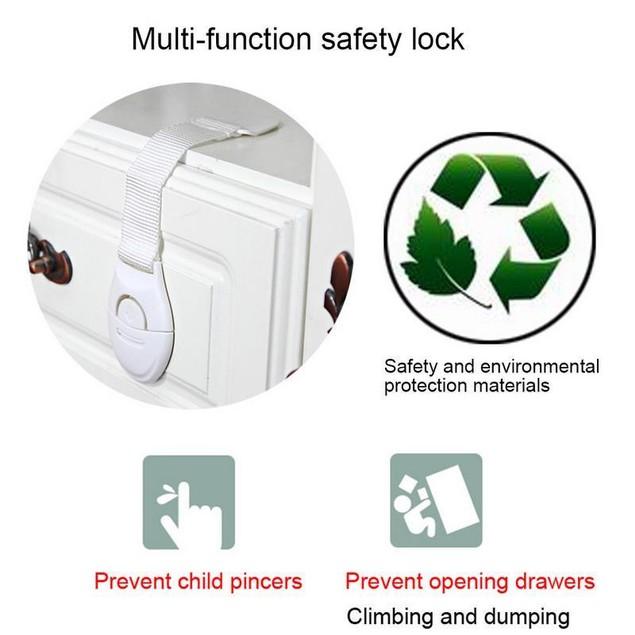 10 Pcs Locks Protection from Children Drawer Door Cabinet Cupboard