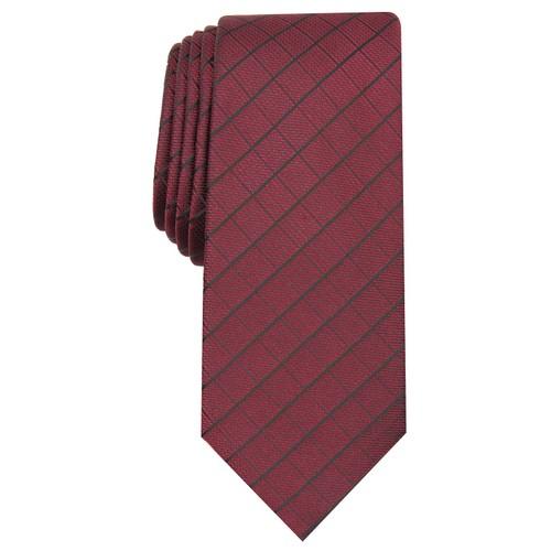 Alfani Men's Slim Grid Tie  Pink Size Regular