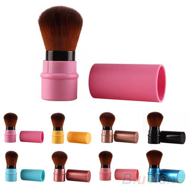 Fashion Retractable Blusher Foundation Face Powder Makeup Brush