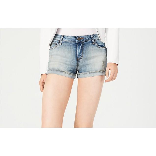Sts Blue Women's Molly Fray-Hem Cuffed Shorts Blue Size 29