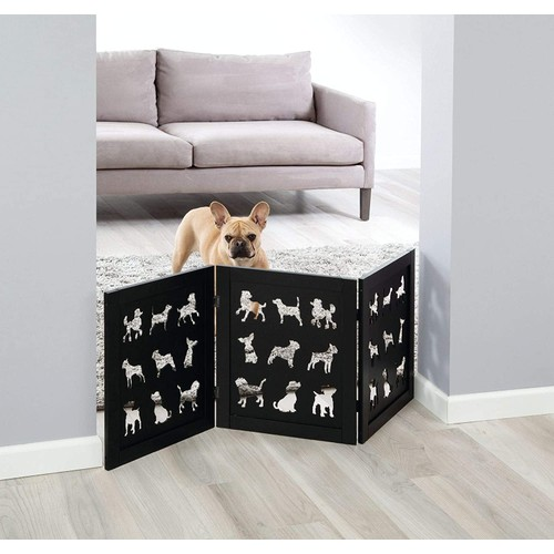Freestanding Pet Gate Wood Dog Silhouette Dog Gates Dog Fence