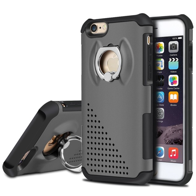 NAVOR Dual Layer Shockproof Rotating Metal Ring Case for iPhone 6 / 6s
