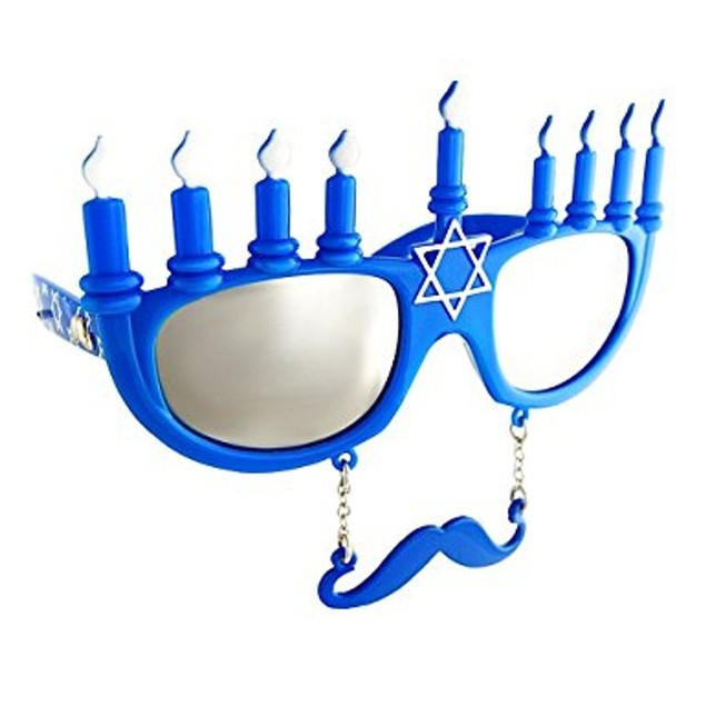 Menorah Sunstache Sunglasses Hanukkah Chanukah Holiday Winter
